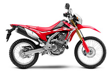 The CFR250L family of bikes has two great options this year. First, there's the standard model, with minimal bodywork and a slightly lower seat height. Then there's the CRF250L Rally, with Rally-style bodywork and features along with more suspension travel and a slightly taller seat height. They both share the same great engine and chassis. Which one is right for you? Why not visit your Honda Dealer in person and find out?